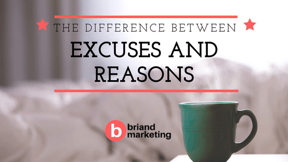 Difference between reasons and excuses